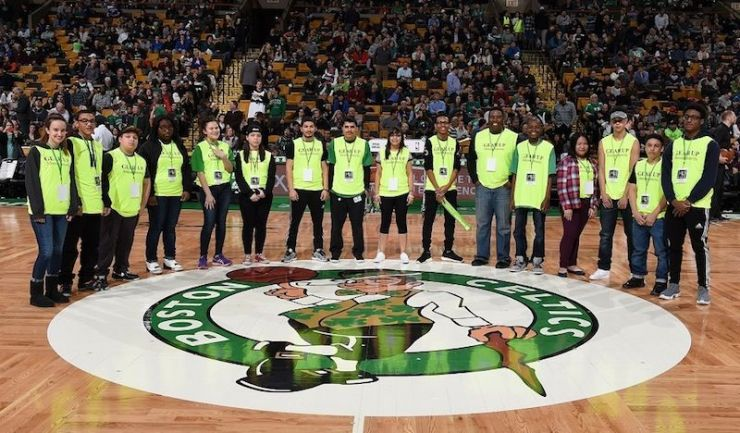 GEAR UP students at a Boston Celtics Game